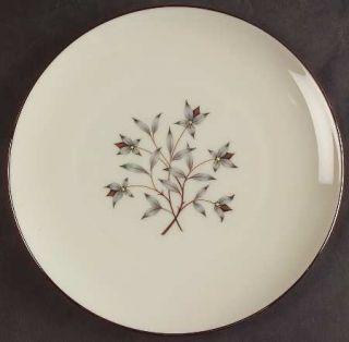 Lenox China Princess Luncheon Plate, Fine China Dinnerware   Gray & Tan Floral C