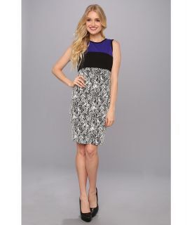 Calvin Klein Color Block Jacquard Dress Womens Dress (Multi)