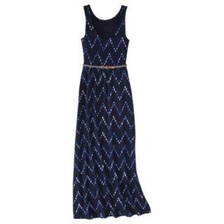 Merona Womens Maxi Dress w/Belt   Navy Chest   L