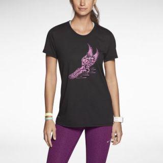Nike Run Like Hell Womens T Shirt   Black