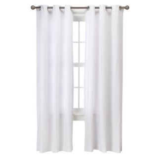 Threshold Grayson Grommet Window Panel Pair   White (42x84)