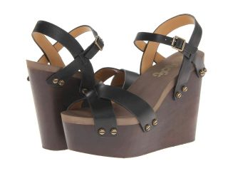 Flogg Liliana Womens Wedge Shoes (Black)