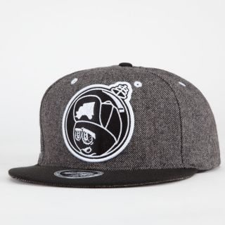 Feelin Spacey Mens Snapback Hat Gunmetal One Size For Men 216176112