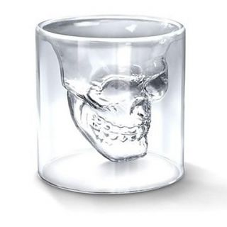 75 ML Creative Scary Skull Design Cup Shot Glass Transparent