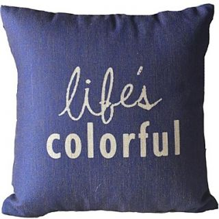 The English Letter Life Color Decorative Pillow Cover