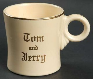 Homer Laughlin  Tom&Jerry Mug, Fine China Dinnerware   Gold Band,Words Tom&Jerr