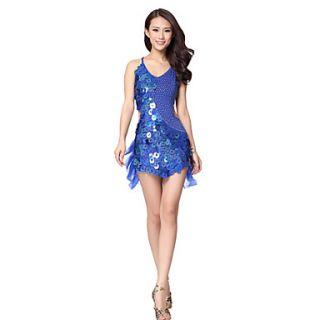 Dancewear Viscose Latin Dance Dress For Ladies