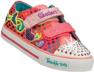 Infant/Toddler Girls Skechers Twinkle Toes Shuffles Burst O Fun Vegetarian Shoe