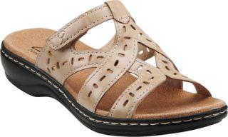 Womens Clarks Leisa Truffle   Bone Full Grain Leather Casual Shoes