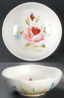 222 Fifth (PTS) Floral Fete Soup/Cereal Bowl, Fine China Dinnerware   Floral,Sca