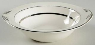 Pope Gosser Era Lugged Cereal Bowl, Fine China Dinnerware   Three Bands Of Plati