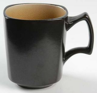 Ty Pennington Style Caliente Camel Square Mug, Fine China Dinnerware   Tan Insid
