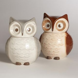 Owl Cookie Jars, Set of 2   World Market