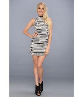 BCBGeneration Sleeveless Round Neck Dress Womens Dress (Gray)