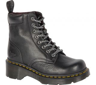 Womens Dr. Martens Dharma Plain Toe Boot   Black Polished Inuck Boots
