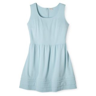 Merona Womens Plus Size Short Sleeve Ponte Dress   Blue 4X