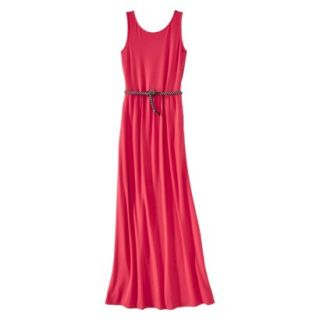 Merona Womens Maxi Dress w/Belt   Blazing Coral   L