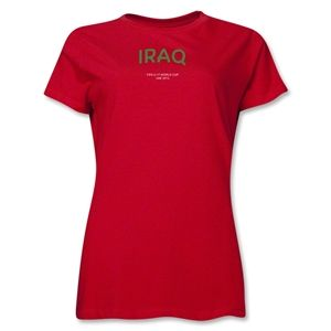 Iraq 2013 FIFA U 17 World Cup UAE Womens T Shirt (Red)